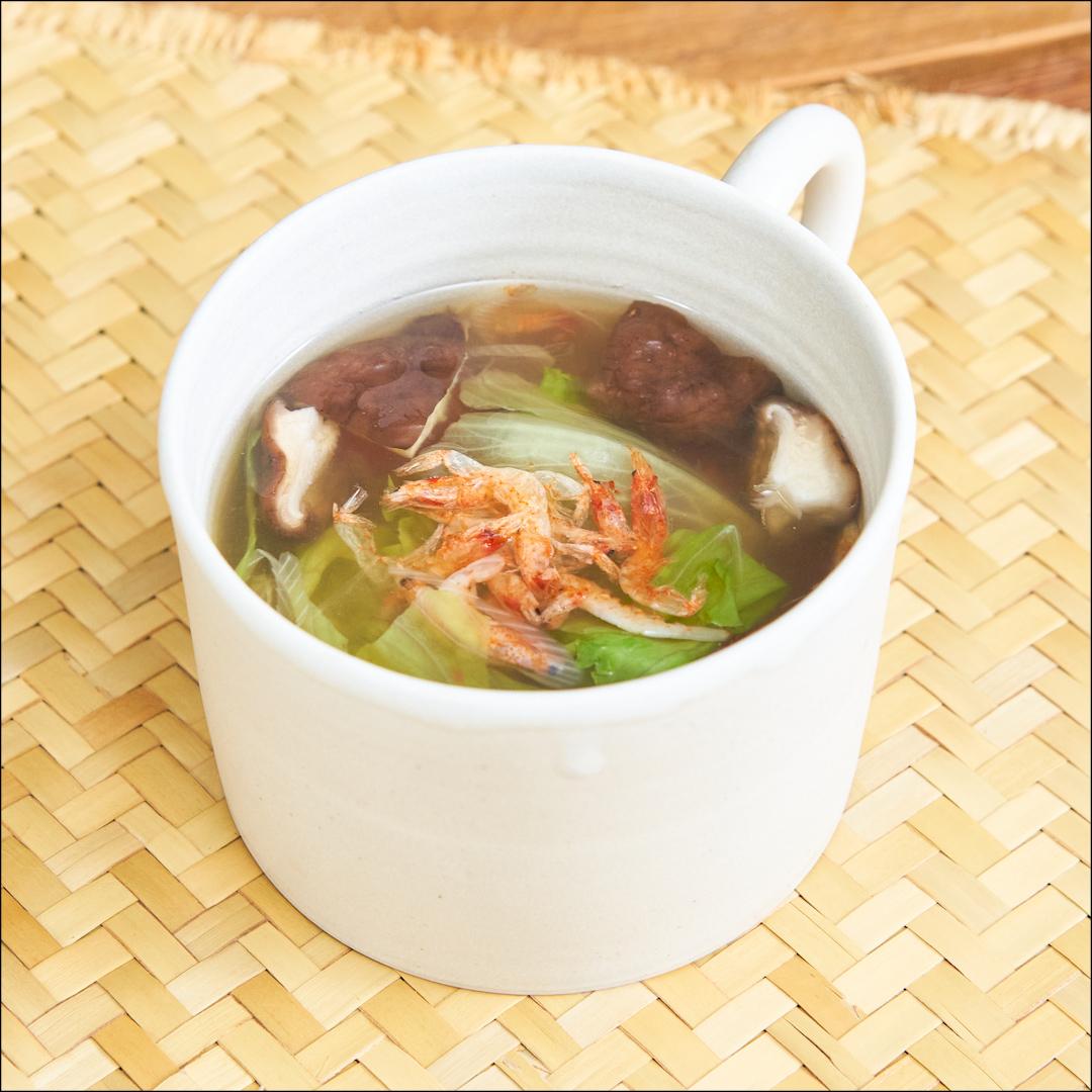サクラエビの塩野菜スープ
