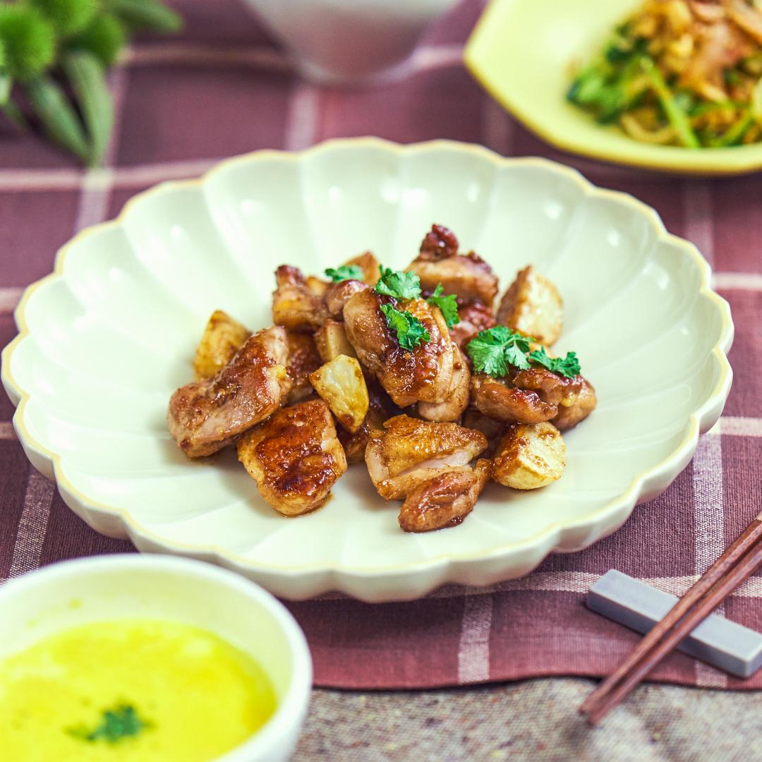 今夜はこれで決まり♪鶏肉と里芋のハニーマスタード焼き