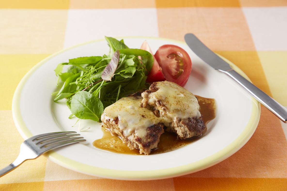 栄養満点!ジューシーチーズハンバーグ