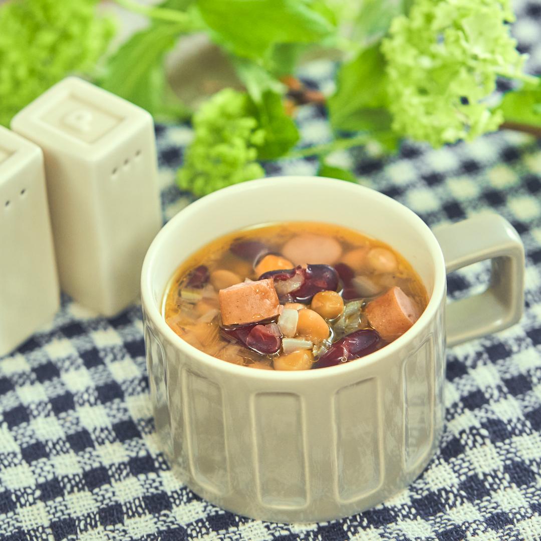 たっぷり豆の♪ミックスビーンズスープ