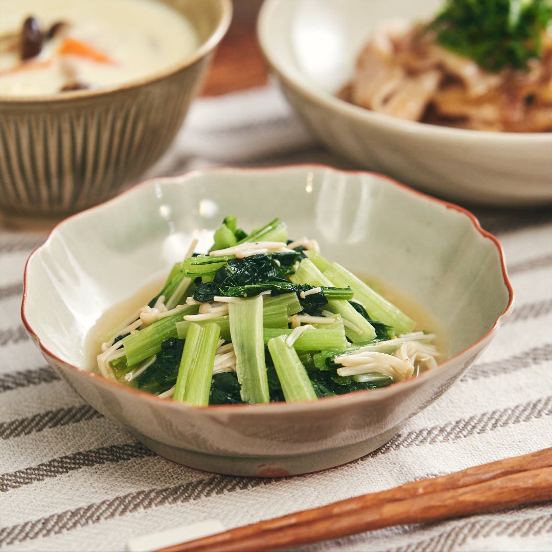 ほったらかし!小松菜とえのきの煮浸し