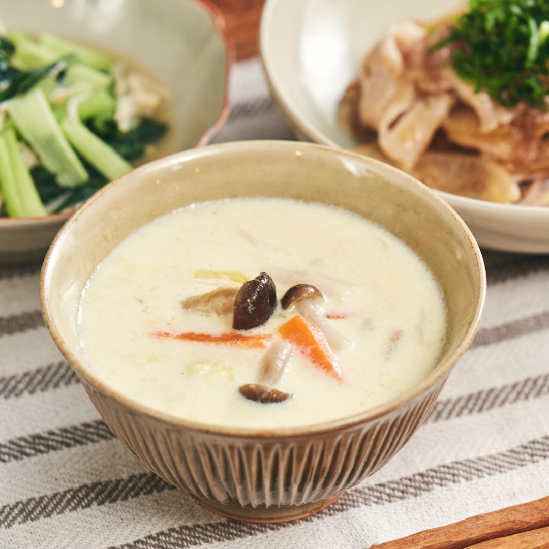 コクうまっ♪ 豆乳みそスープ