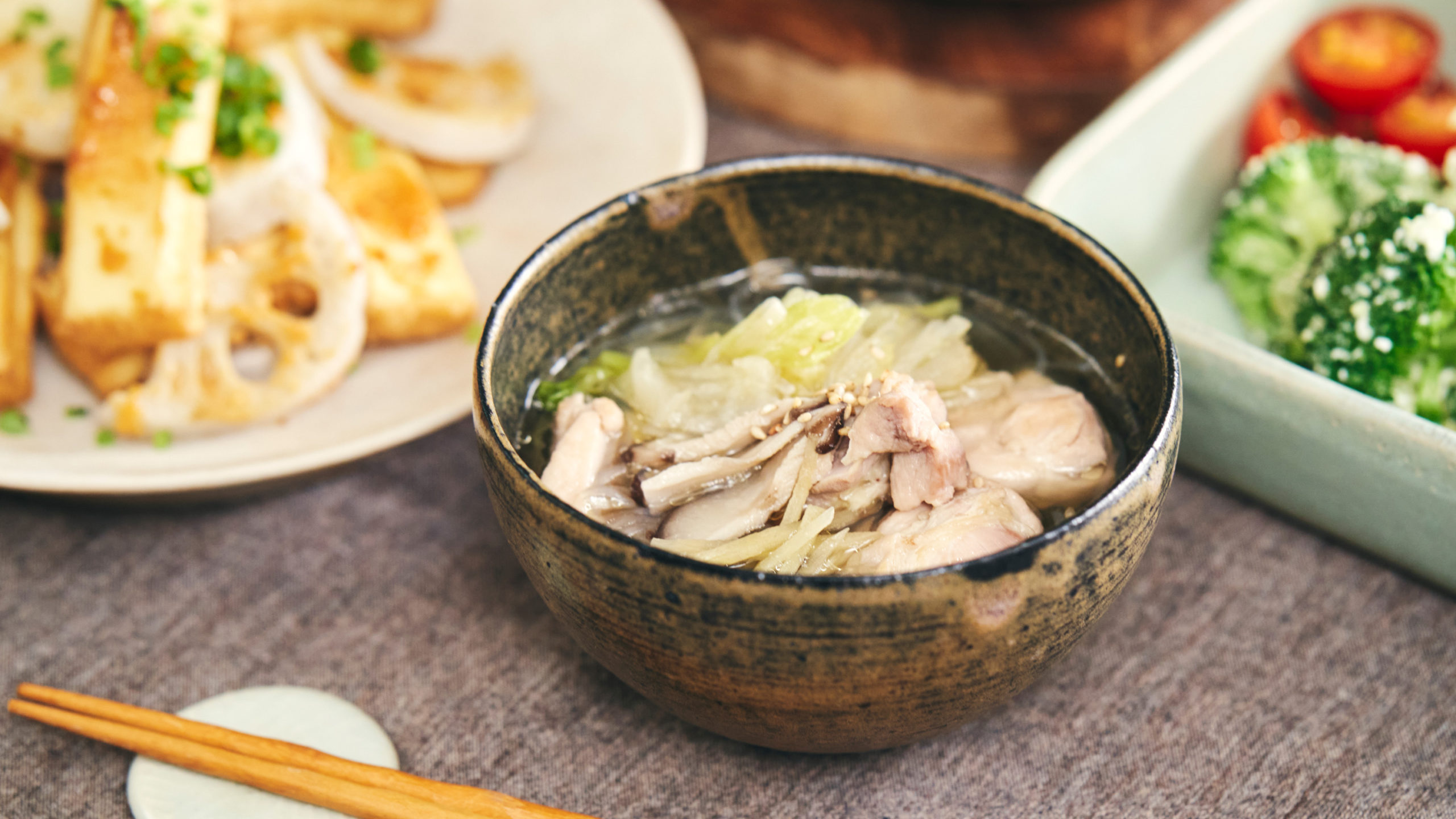からだポカポカ♪ 鶏肉と春雨の生姜鍋