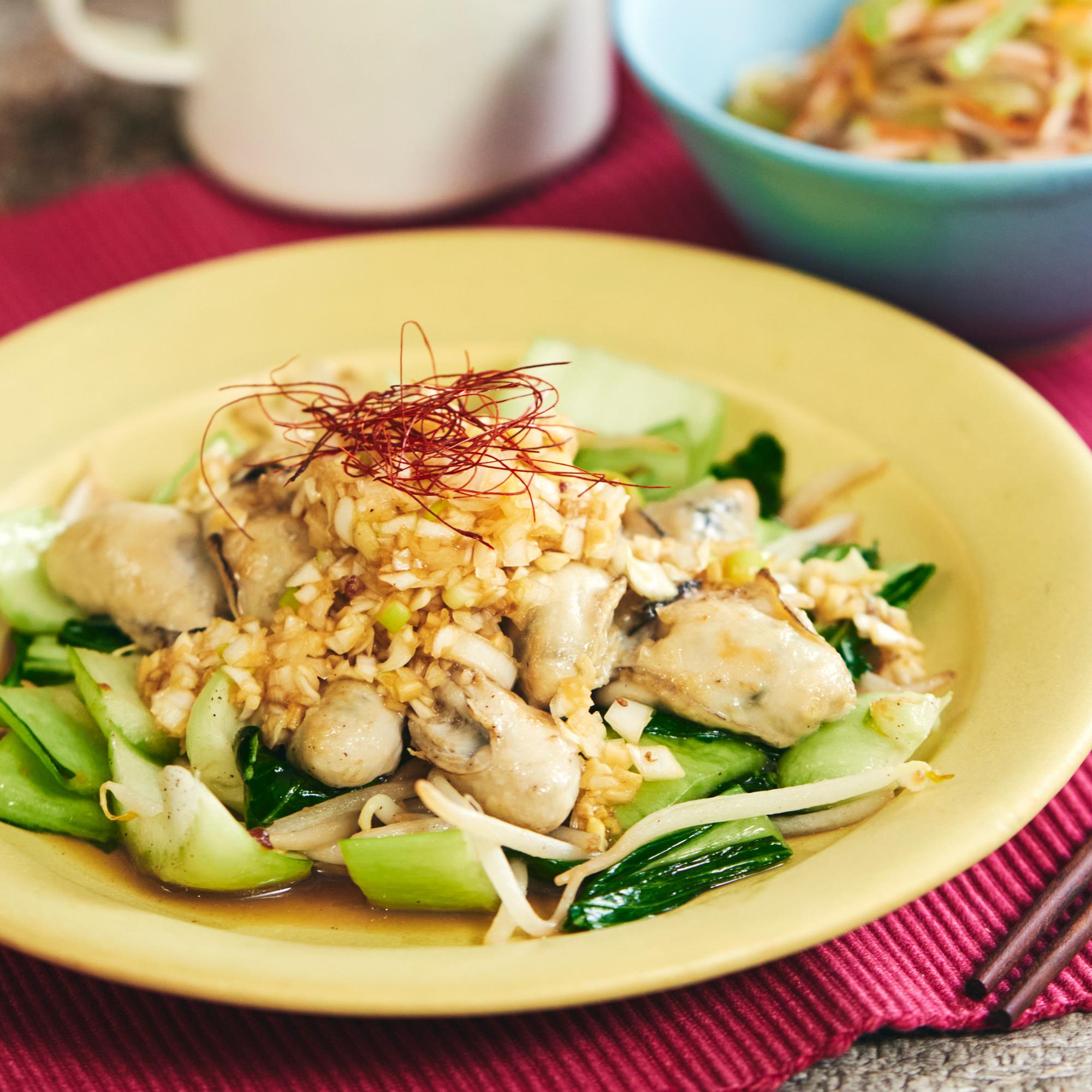 ぷりっと食感の♪牡蠣の中華風