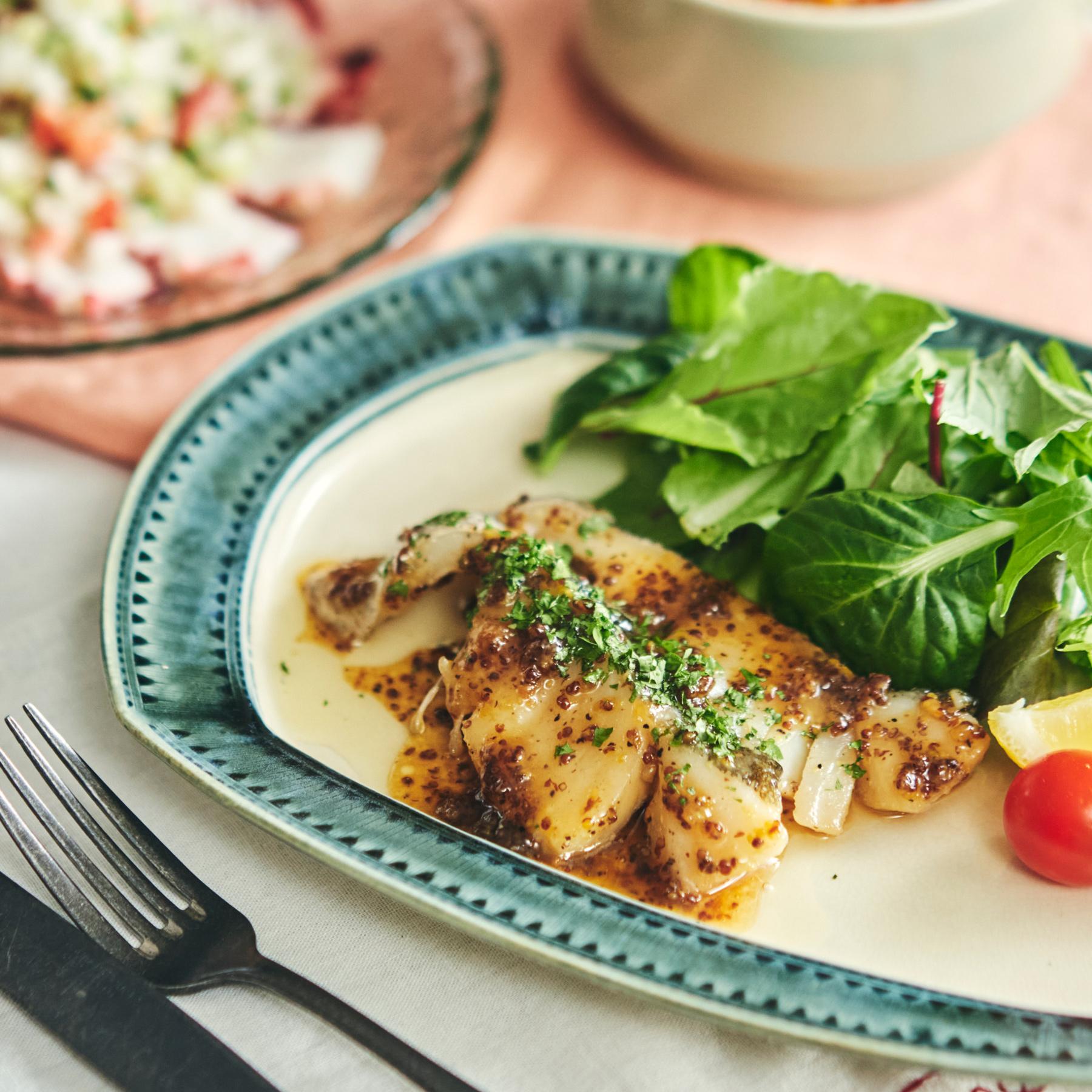 メープルシロップで作る洋風ソース♪白身魚のソテー