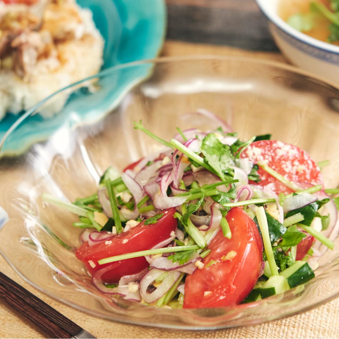 タイ風♪トマトのパクチーサラダ