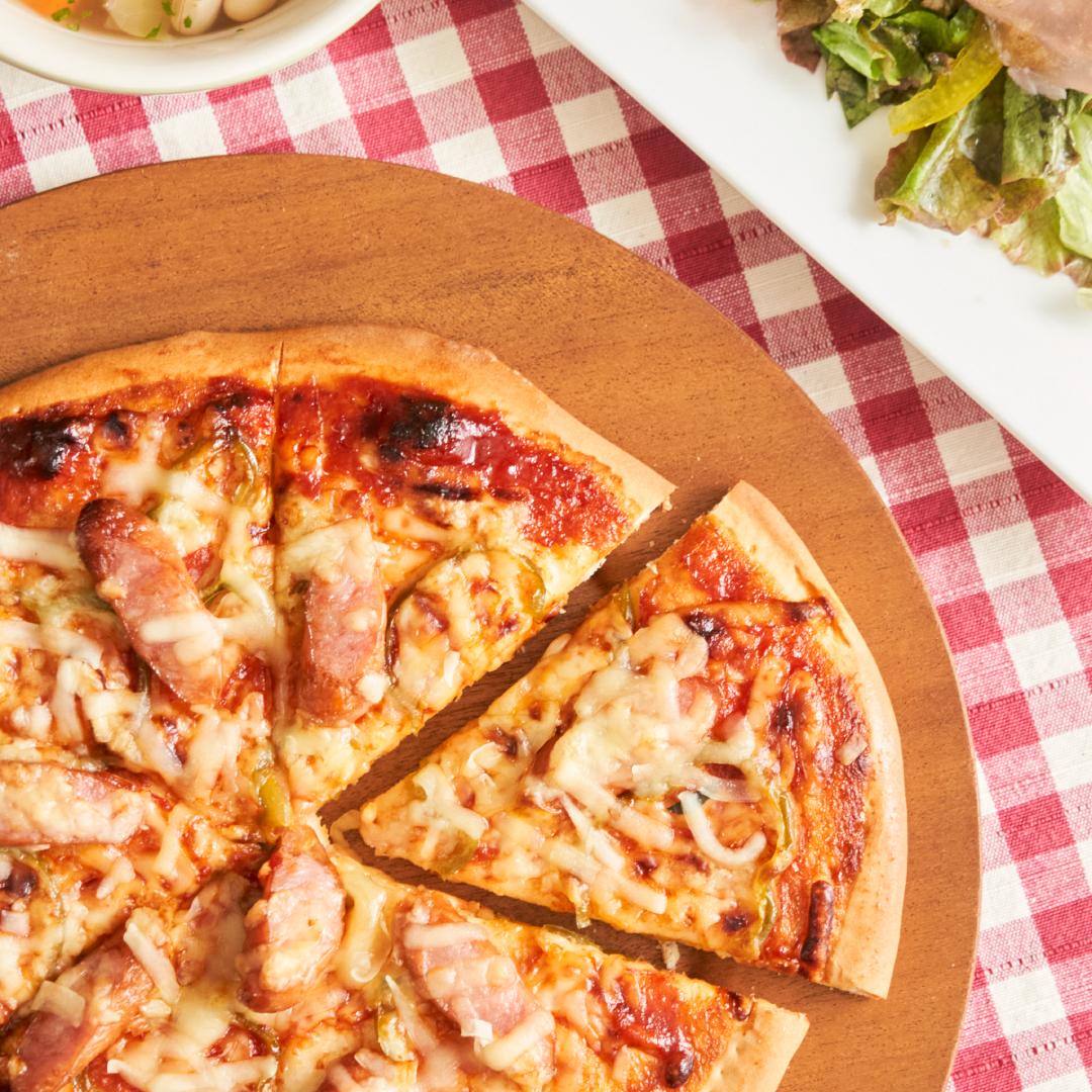 生地から作る♪発酵なしの簡単ピザ