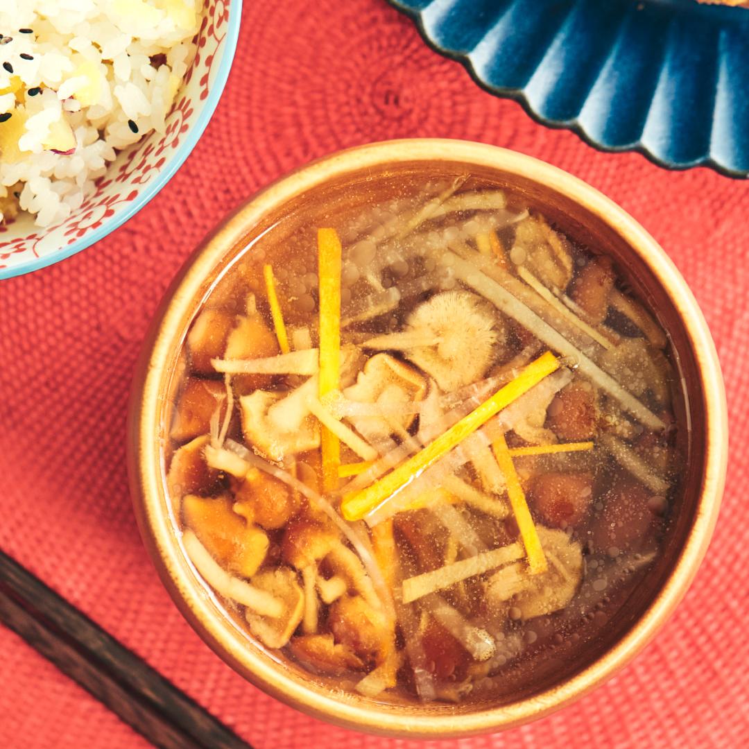 生姜でポカポカ♪3種の根菜スープ
