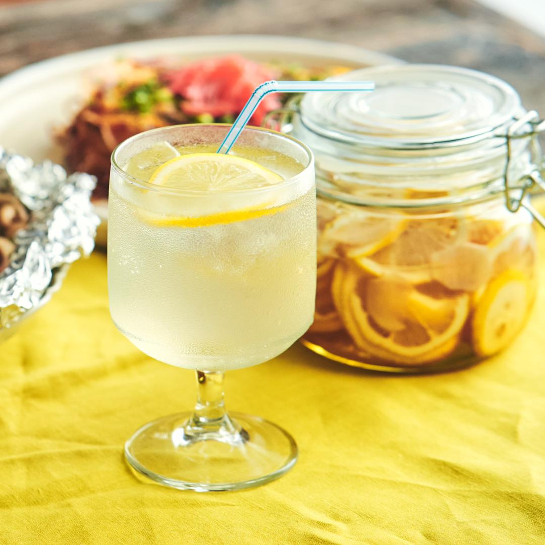 簡単自家製シロップ♪生姜香るハニーレモンソーダ